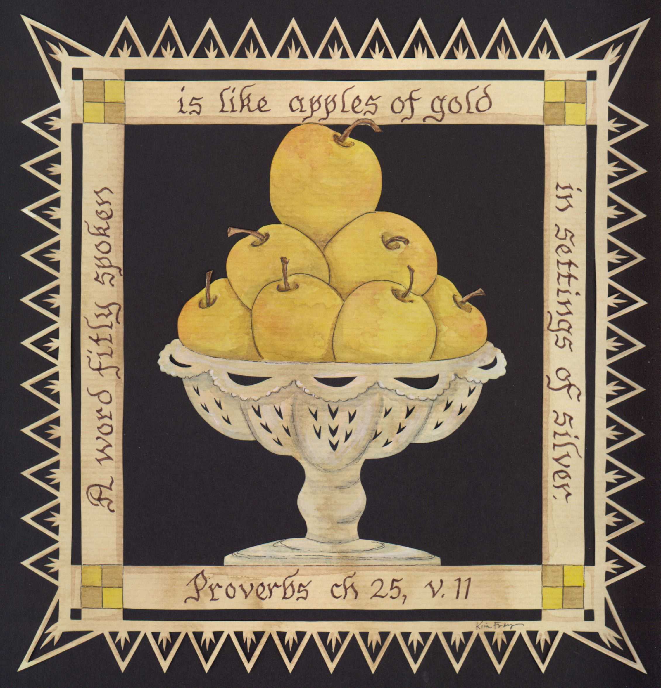 apples of gold in pictures of Apples of gold in pictures of silver proverbs 25:11 (kjv): a word fitly spoken is  like apples of gold in pictures of silver posted by luke 19:81.